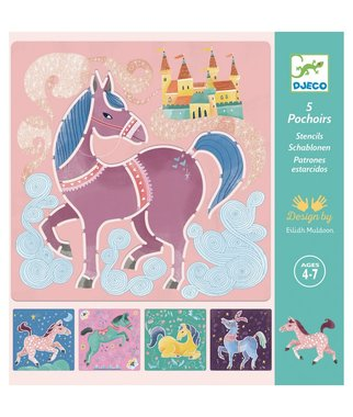 Sjablonen Paarden / Djeco