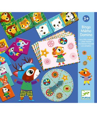Bingo  Memo Domino - Kleine Vrienden / Djeco