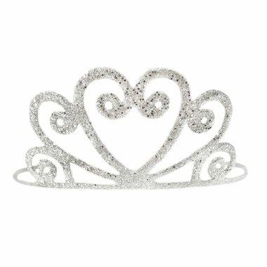 Zilveren Glitter Tiara / Great Pretenders