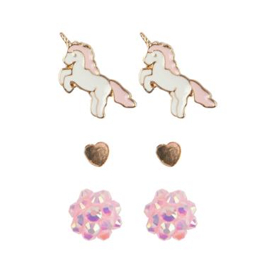 Boutique Unicorn oorbellen (3 paar) / Great Pretenders