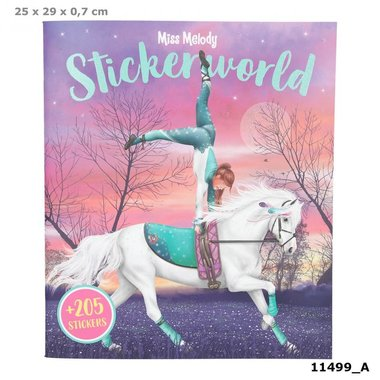 Stickerworld Kleur- en stickerboek / Miss Melody
