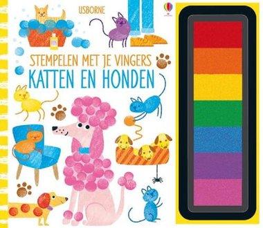 Stempelen met je vingers: Katten en honden 5+ / Usborne