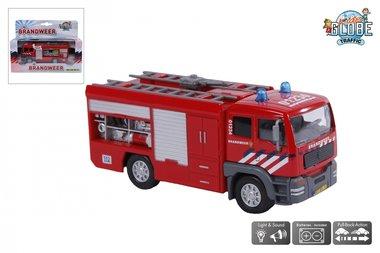 Brandweerauto met spuit, licht en geluid / Kids Globe