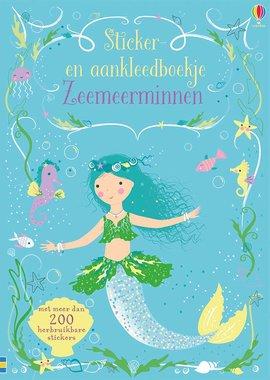 Zeemeerminnen sticker-en aankleedboek / Usborne