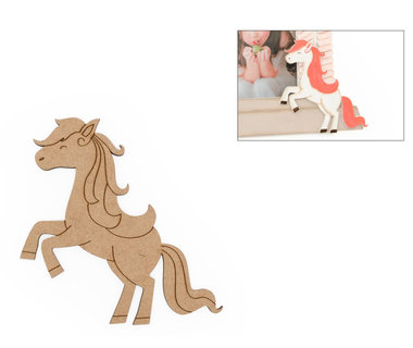 Houten knutselfiguur Steigerend paard / Foam Clay (HG Arts&Craft)