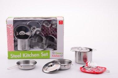Stalen pannenset / Home Kitchen