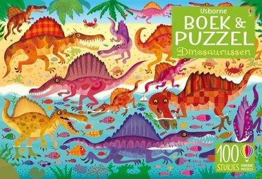 Boek en puzzel. Dinosaurussen. 5+ / Usborne