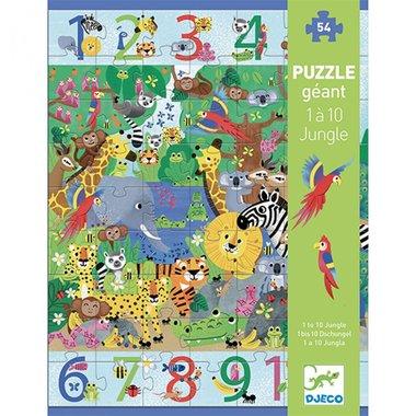 Puzzel Jungle 1 tot 10 -54 stukjes / Djeco