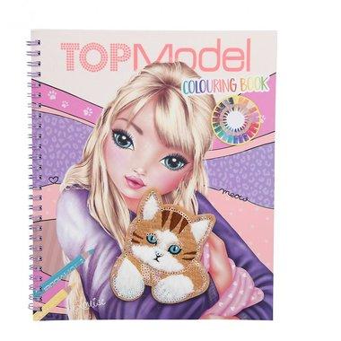 Kleurboek met pailletten Cat / TOPModel