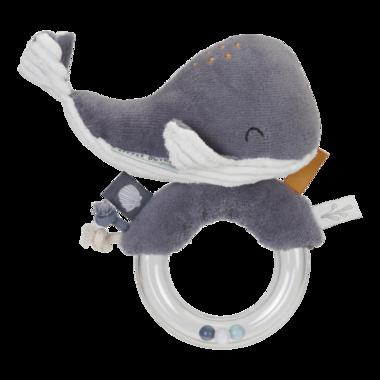 Rammelaar Walvis Ocean blauw- plastic ring / Little Dutch