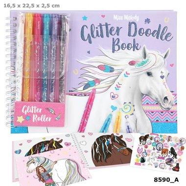 Glitter Doodle Book met stiften / Miss Melody