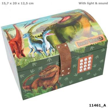 Schatkist met code, geluid en licht / Dino World