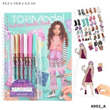 TOPMode Fashion Doodle Book met gelpennen