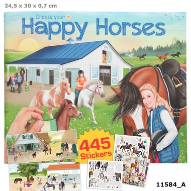 Create your Happy Horses stickerboek / Miss Melody