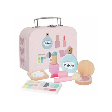 Koffer met houten make-upset / JaBaDaBaDo