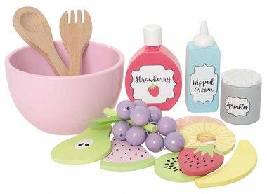 Houten speelset fruitsalade (13-delig) / JaBaDaBaDo