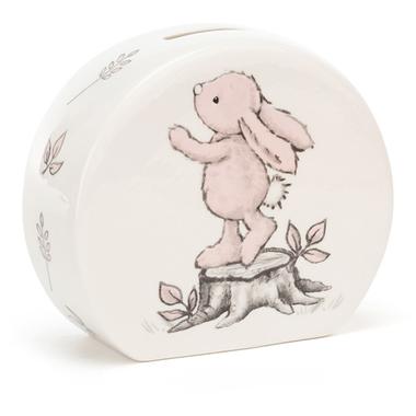 Bashful Pink Bunny Money Box / JellyCat