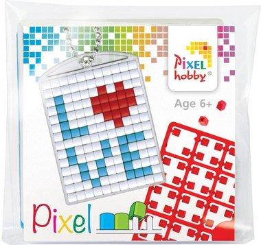 Pixel Medaillon sleutelhanger Love / Pixelhobby
