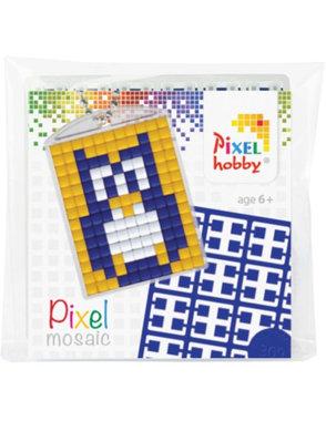 Pixel Medaillon sleutelhanger Uil/ Pixelhobby
