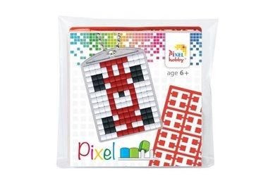 Pixel Medaillon sleutelhanger Raceauto / Pixelhobby