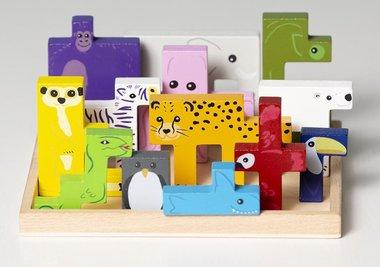 Stoere Dieren 3D puzzel / SuperBlocco
