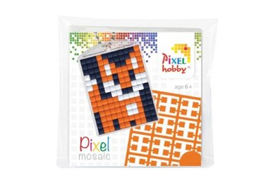 Pixel Medaillon sleutelhanger Vos / Pixelhobby