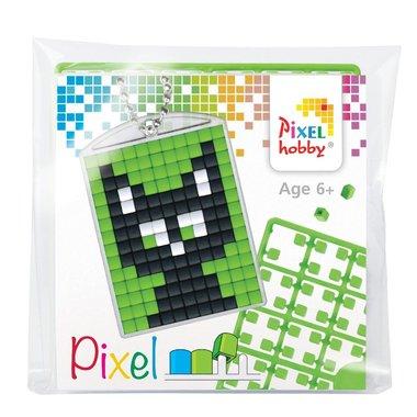 Pixel Medaillon sleutelhanger Kat / Pixelhobby