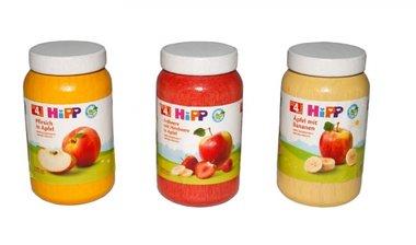 Hipp babyvoeding (3 houten potjes) / Tanner