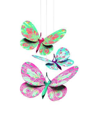 Hangende Glitter vlinders / Djeco