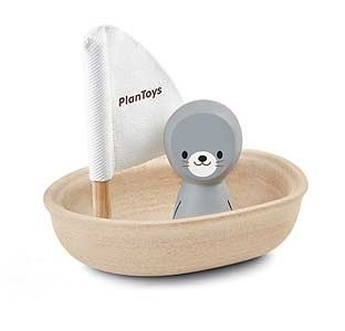 Zeilboot zeehond/ Plan Toys