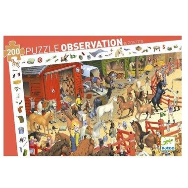 Observatie puzzel paarden (200 st.) / Djeco
