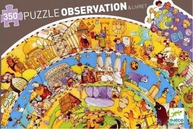 Observatie puzzel geschiedenis (350 st.) /  Djeco