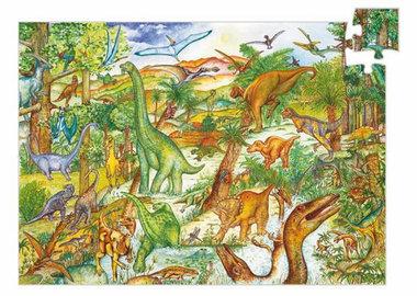 Observatie puzzel dinosauriërs (100 st.) /  Djeco
