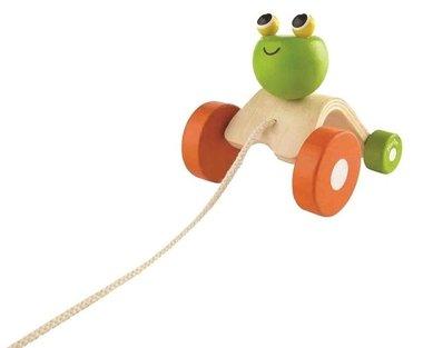 Trekdier springende kikker / Plan Toys