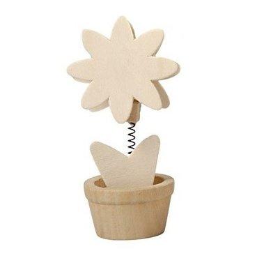 Houten memoclip bloem 8 blaadjes / Foam Clay