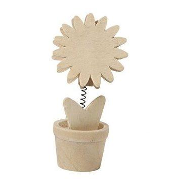 Houten memoclip bloem / Foam Clay