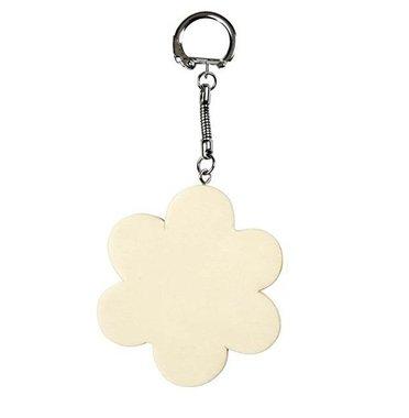 Houten sleutelhanger bloem / Foam Clay