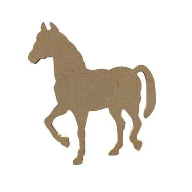 Houten knutselfiguur paard / Foam Clay (Gomille)