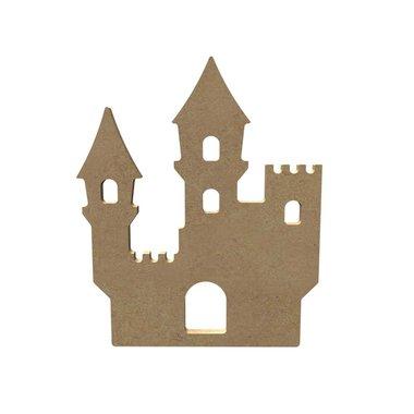 Houten knutselfiguur Kasteel / Foam Clay (Gomille)