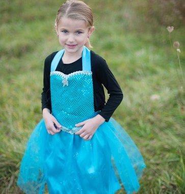 Elsa/Anna omdraai-schort M / Great Pretenders