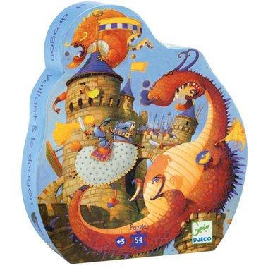 Puzzel Ridder en draak (54 st.) / Djeco