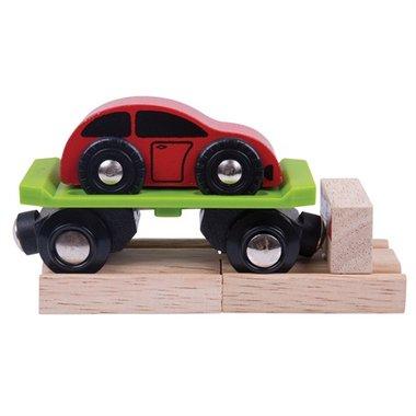 Autoaanhanger met auto / BigJigs