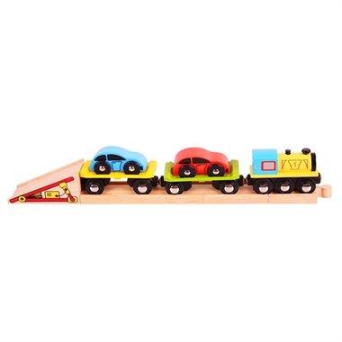 Autolader trein / BigJigs