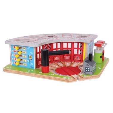 Luxe Remise 5 Treinen (5 Way Engine Shed) / BigJigs