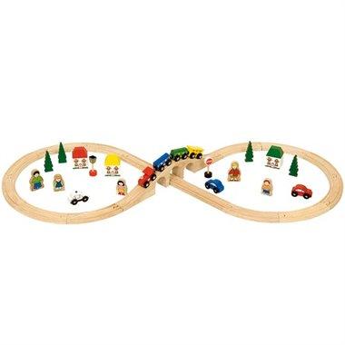 Achtvormige Trein Set / BigJigs