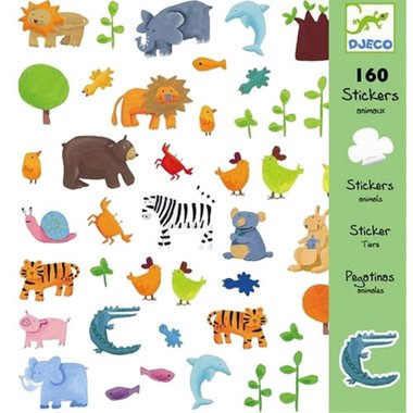 160 stickers dieren / Djeco
