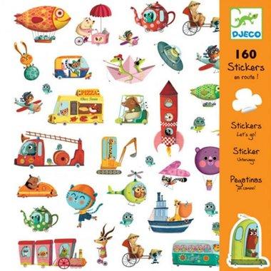160 stickers onderweg / Djeco