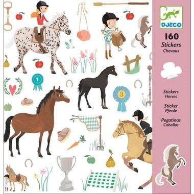 160 stickers paarden / Djeco