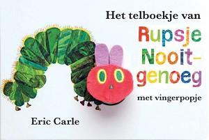 Het telboekje van Rupsje Nooitgenoeg (kartonboekje + vingerpop)