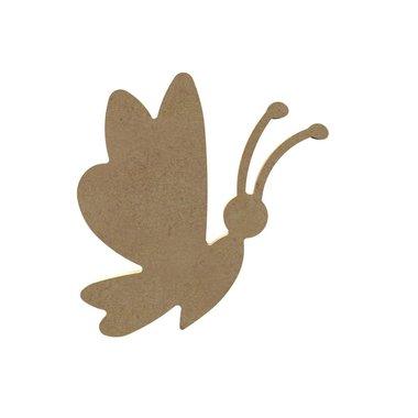 Houten knutselfiguur Leuke vlinder / Foam Clay (Gomille)